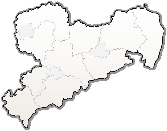 Karte mit einer Übersicht unserer Schullandheime in Sachsen